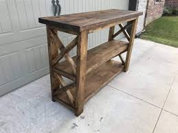 build this x console table by handmade haven yourself in a weekend