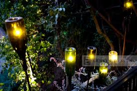 wine bottle lighting. contemporary planter with wine bottle lighting eclecticlandscape s