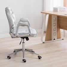 Image Upholstered Luxury Vintage Silky Velvet Swivel Rocking Lift Home Office Chair Bedroom Ebay luxury Vintage Silky Velvet Swivel Rocking Lift Home Office Chair
