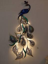 led peacock designer wall decor