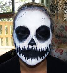 skull face paint by kowaigirl skull face paint by kowaigirl