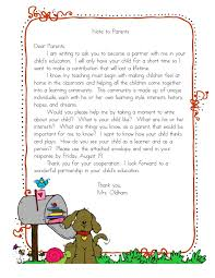 letter from teacher to parents but really for august letter to parents i did something similar