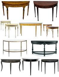 half round accent table creative inspiration half round accent table table round console tables half inspirations