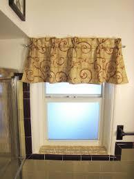 kitchen elegant plant pattern window valance alongside stainless