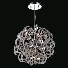 medusa nine light chrome finish with clear crystals chandelier
