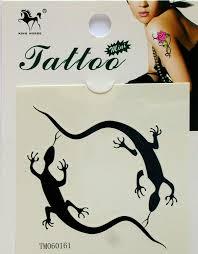 Gecko Game Gecko Fake Tattoo Stickers Temporary Tattoos Paste Neck