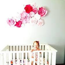 flower wall decor paper flower wall by nursery decor girls room wall art paper flower gold flower wall decor