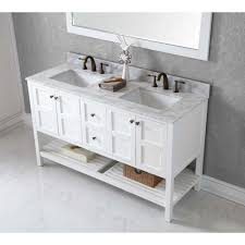 60 Bathroom Cabinet Virtu Usa Winterfell 60 In W X 22 In D X 3599 In H White