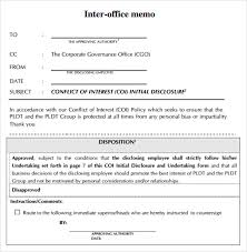 Inter Office Memo Format Free 6 Sample Interoffice Memo Templates In Google Docs