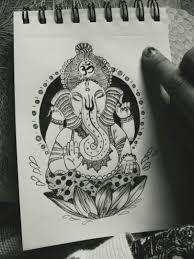 ганеша графика эскизы татуировок черно белый тату эскизы