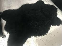 black faux fur rug canada