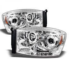 Halo Lights For 2006 Dodge Ram Spyder Auto 2006 2008 Dodge Ram 1500 2006 2009 Ram 2500 3500 Drl Led Halo Projector Headlights Chrome