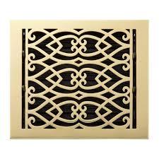 Decorative Grates Registers Oversized Victorian Brass Floor Register Hardware