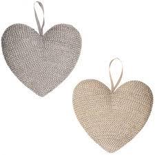 Glänzende Hängedeko M 15 Cm Herz Silber Oder Gold
