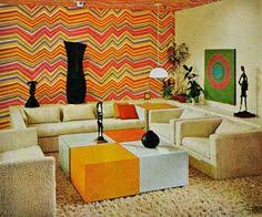 1970s living room design.