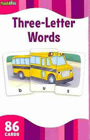 3 letter words flash kids flash cards