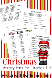 Christmas Literacy Printables Packet for 1st - 3rd Grade