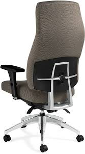 office chair back view. Global Triumph 3650-3 - Back View Office Chair