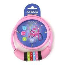 <b>Замок</b> велосипедный <b>APECS PD</b>-<b>82</b>-<b>65CM</b>-<b>CODE</b>-<b>PINK</b> — купить ...