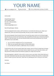 Sample Cover Letters For Resume 6869