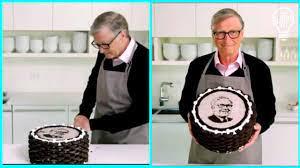 Bill gates bake cake for his friends birthday - YouTube