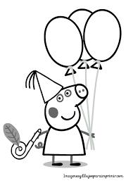 Dibujo De Peppa Pig De Cumpleaños Para Colorear Kleurplaten