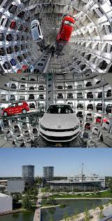 Smart Car Vending Machine Germany Gorgeous Volkswagen Parking Lot Towers Wolfsburg Germany Think Very