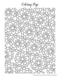 Spring Coloring Designs Printable Coloring Page For Kids