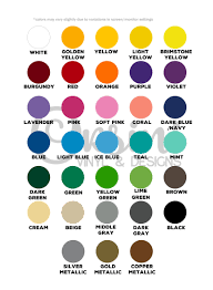 Color Charts Orsini Vinyl Designs