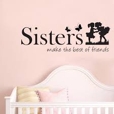 sisters make the best of friends e vinyl wall art decals wall stickers for kids bedroom white tree wall stickers white vinyl wall decals from flylife