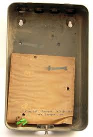 mem 4 way enclosed grey metal fuse box 2 inside front metal cover back metal box from a mem fuse box