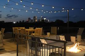 rooftop lighting. And With Stunning City Skyline Views, All It Really Needed To Complete The Effect Was Commercial Outdoor Lighting For Extending Those Fun Evenings Into Rooftop O