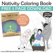free nativity coloring book