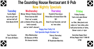 Chart House Hours The Counting House