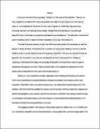 beauty extended definition essay beauty everyone has heard the  this preview has intentionally blurred sections sign up to view the full version