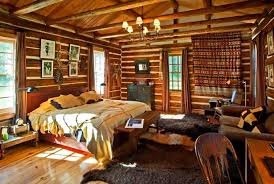 impressive decor cabin wall art small bedroom cabin decorating ideas with tapestry and wall art and chandelier and faux animal skin rugs jpg