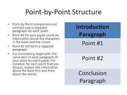 compare contrast essays ppt  8 point by point structure