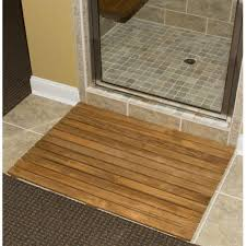bamboo door mat  roll up bamboo bath shower bathtub spa sauna mat