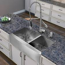 vigo vg15269 all in one 36 inch farmhouse stainless steel double bowl kitchen sink and