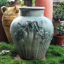 terracotta garden sculpture urn vtg