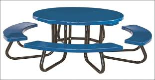 furniture patio side table metal awesome 48 round children s fiberglass picnic table with