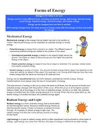 Light Energy To Mechanical Energy Forms Of Energy