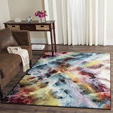 safavieh galaxy collection gal110a vibrant abstract watercolor multicolored area rug 5 x 8