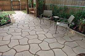 patio from concrete pavers