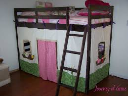 tutorial on how to sew little fabric walls for your bunk loft bed