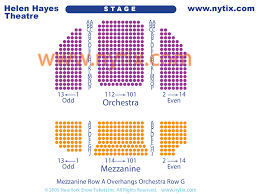 Hayes Theater Seating Chart Helen Hayes Theatre On Broadway In Nyc