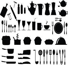 kitchen utensils silhouette vector free. Modren Vector Kitchen Utensils Vector Silhouettes Free 142MB For Utensils Silhouette Vector I