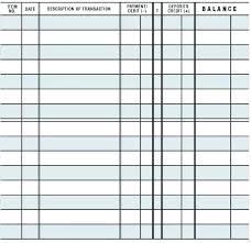Check Book Template Printable Blank Checks Ledger Free Register For