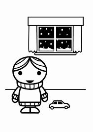 Kleurplaat Zuinig Met Energie Dikke Trui In De Winter Afb 23972