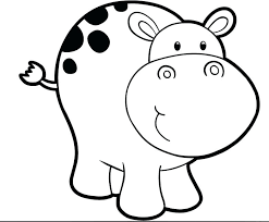 Hippo Coloring Page Hippo Coloring Pages Free Baby Page Printable